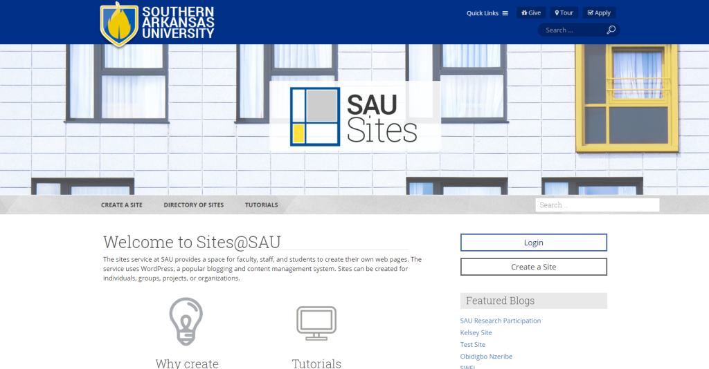 SAU Sites – Southern Arkansas University