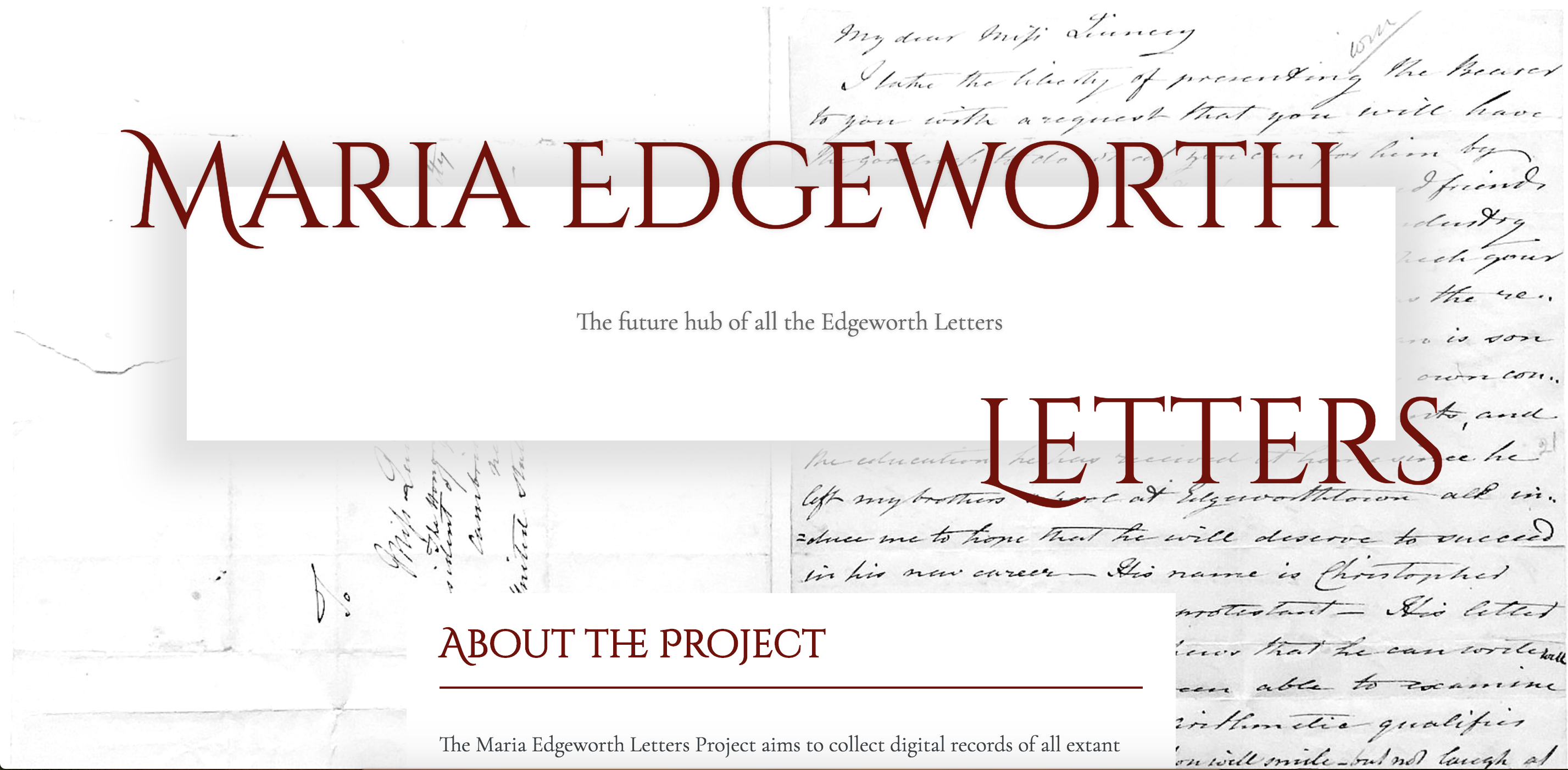 Maria Edgeworth Letters Site